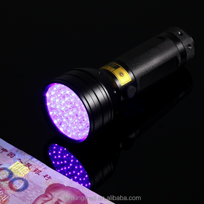 AloneFire SV051 51 LED ultra violet flashlight for cat urine detector uv led torch for 3*AA battery purple lights