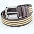 Plus size high quality real leather belt men 2016 hot mens designer belts striped belt brand