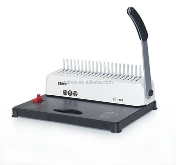 Plastic Comb Binding Machine For 15sheets A4 Paper Book Binding Machine -  Buy Book Binding Machine,A4 Paper Binding Machine,15sheets Paper Binding