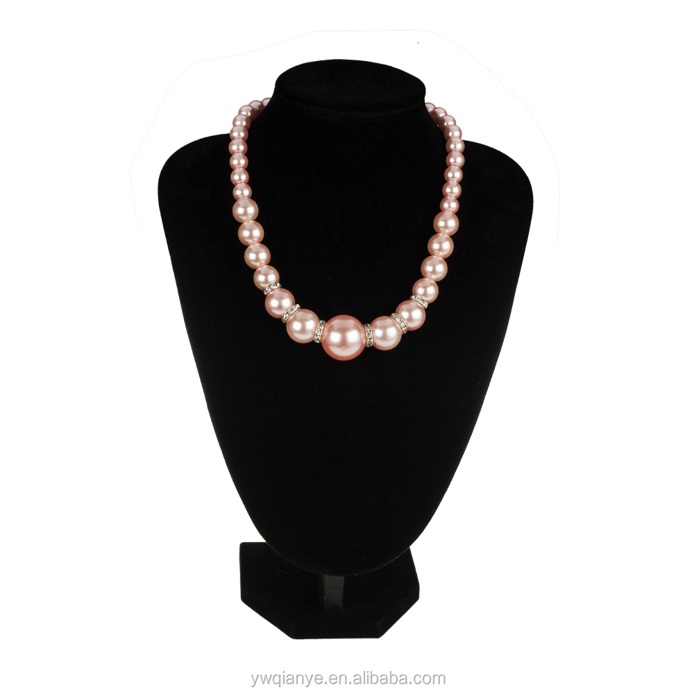 Fashion elegant jewelry pink pearl necklace&pendant necklace