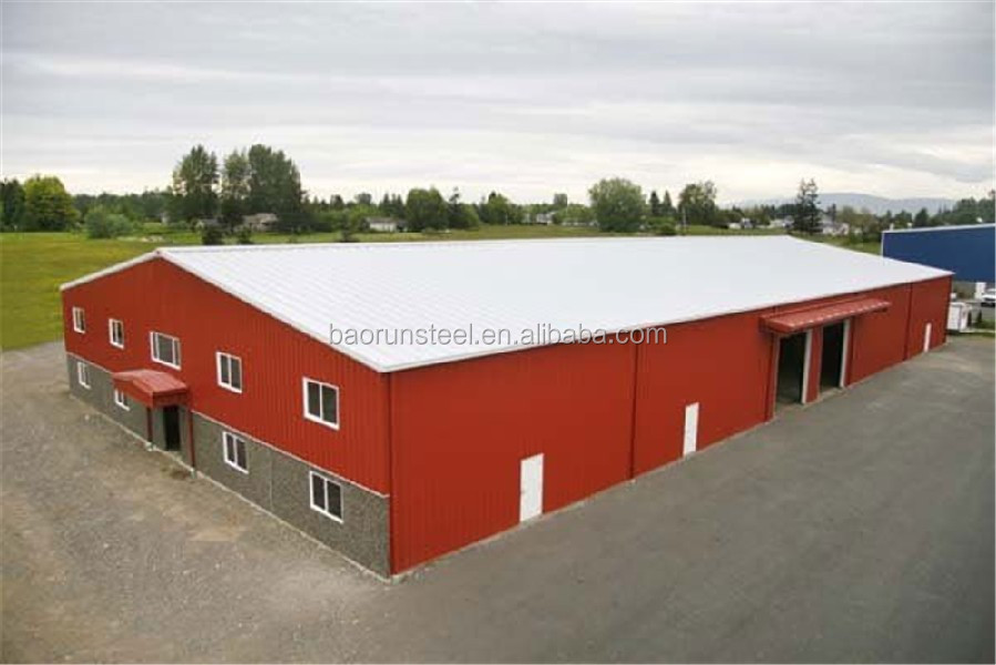 Modern prefabricated Industrial Shed - Steel structure building warehouse
