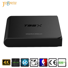 High quality and lowest price T95X android tv box amlogic s905x media stream 2GB tv box with 4K