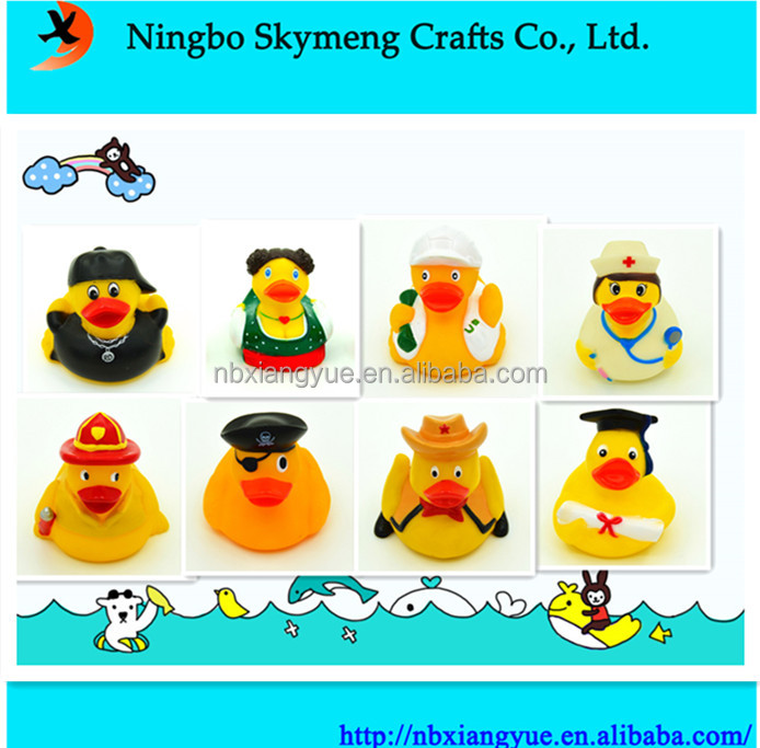 China manufacture Floating rubber ducky multi colored rubber bath toy ducks
