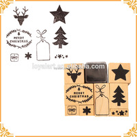 Custom Design Wooden Rubber Stamp for Christmas Good Reputation Factory Supply