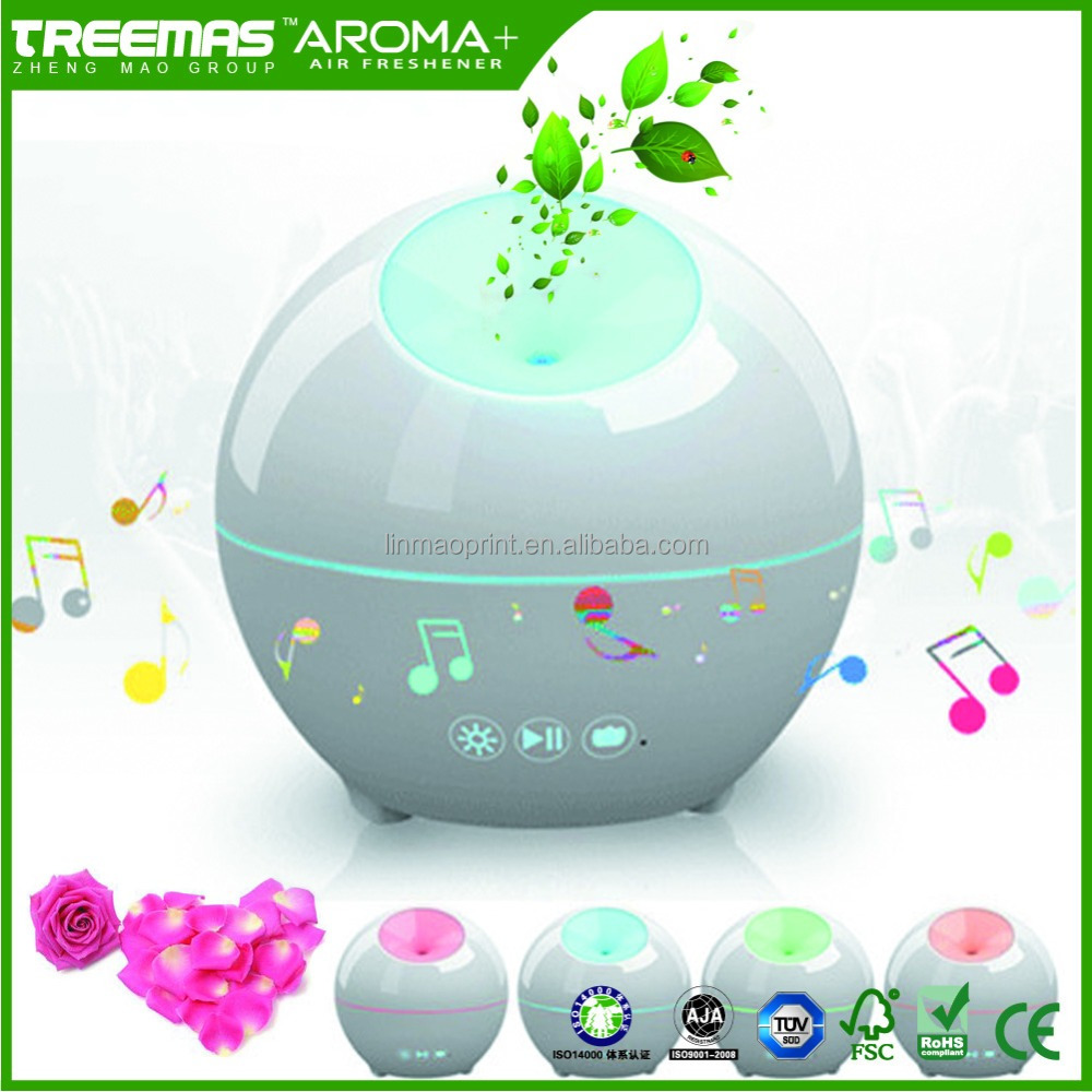 Enviromental rechargeable essential oil diffuser for idea gift with perfect after-sale service and bluetooth APP control