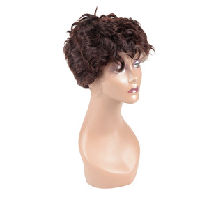 Factory price full thin skin cap human hair lace wigs Can be dyed full cap lace wigs for men