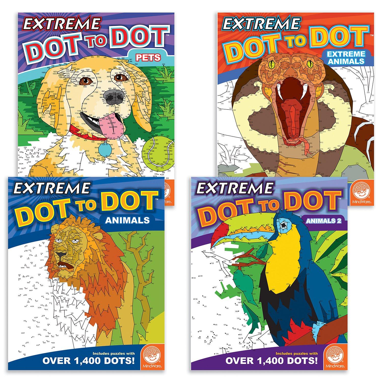 MindWare Extreme Dot to Dot: Animals Set of 4