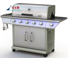 <span class=keywords><strong>Gas</strong></span> <span class=keywords><strong>Grill</strong></span> 4 Brander <span class=keywords><strong>BBQ</strong></span> Achtertuin Patio Rvs Barbecue Outdoor W Planken