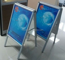 Aluminum pavement sign double sided poster board stand