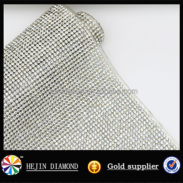 High quality glass/ resin made mesh aluminum crystal hot fix rhinestone sheet for decoration