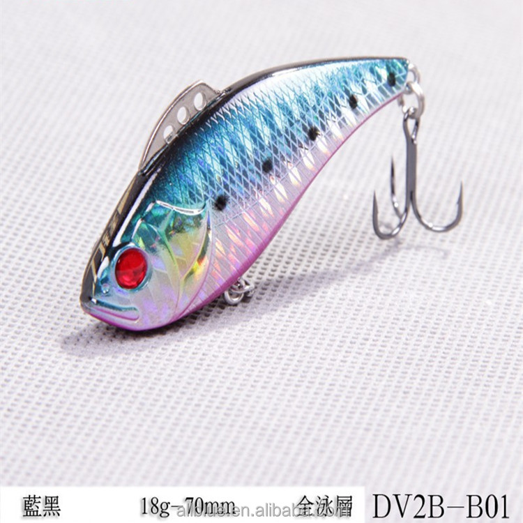 WeiHai Hot Selling Decoys Fish Artificial Bait VIB Vibration With 3D Eyes For All Depth Fishing Tackle