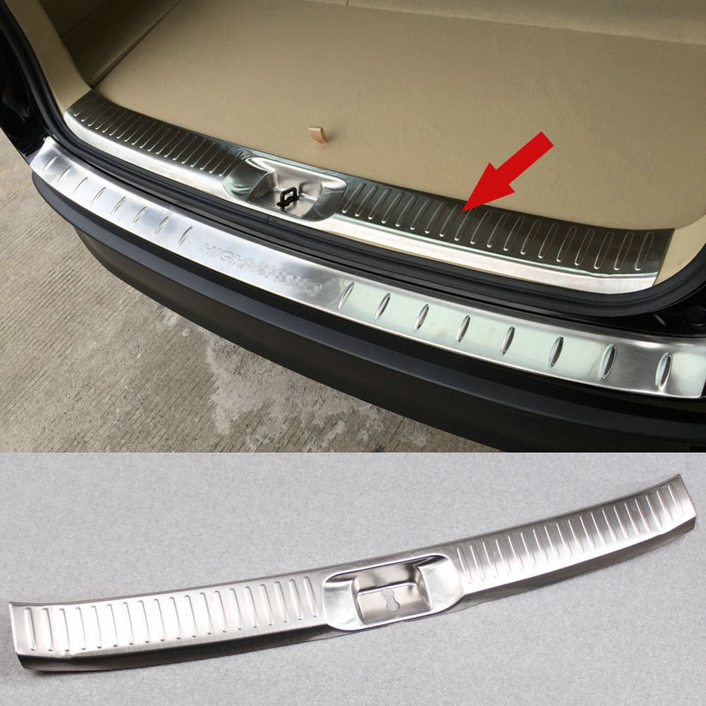 Generic Stainless Steel Rear Bumper Sill Plate Guard Cover Fit For Toyota Highlander 2015 2016 2017