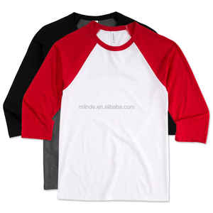 Cheap Raglan Badeball T Shirts Men Fashion Gym Sport Wear Baseball Raglan T-shirts Wholesale Custom Made Manufacturer