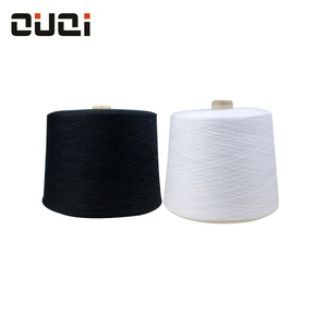 Free samples raw white polyester/viscose rayon 65/35 filament yarn