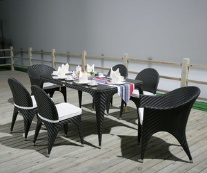 Special weaving design outdoor rattan wicker side chair and arm chair modern table and chair garden patio dining sets