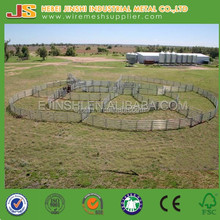 Anping galvanized pasture flexible steel horse rail fence factory