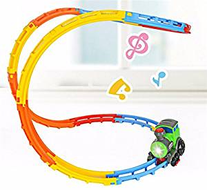 New DIY Electric Car Racing Track Light Music Creative Roll Fancy Car Toy Train Electric Toys By KTOY