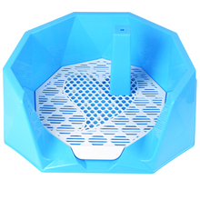 Wholesale Pet Diamond Toilet M Candy Plastic Dog Toilet With Pillar Fence Male Dog