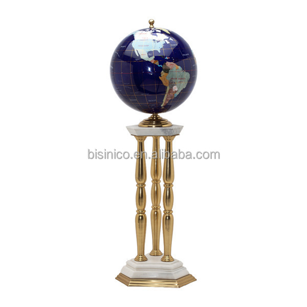 Unique Design Marble Globe For Home Decoration, Elegant Marble Globe With Bronze Holder