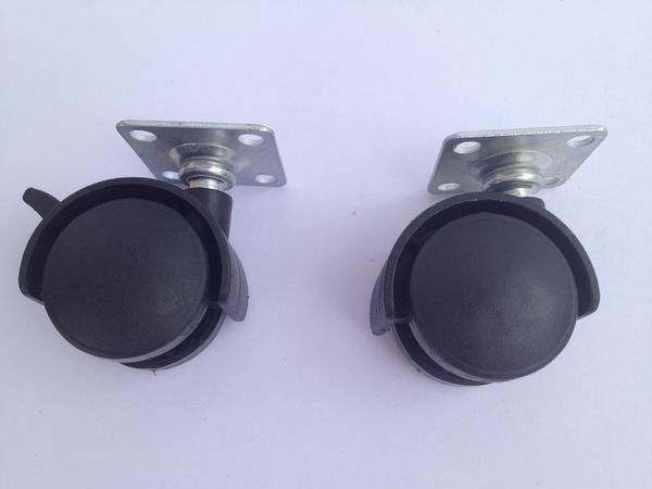 30mm 40mm 50mm plastic twin wheel casters