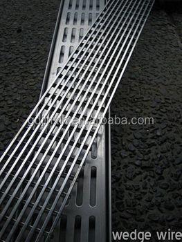 Jinxin Bathroom Customized Stainless Steel Floor Drain Grate Wedge Wire Strip