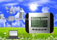 WS1041 wireless weather station clock with PC interface - Data Logging System weather station wind speed sensors temperatur