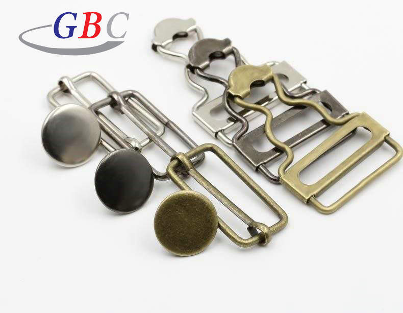 35mm brass metal suspender adjustable <strong>buckles</strong> for bib overall