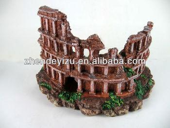 tanque del acuario de resina adornos adornos columna romana