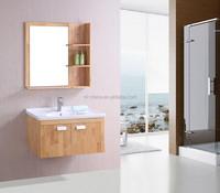 Solid wood OAK bathroom cabinet,single sink bathroom vanity,Saudi Arabia design bathroom furniture set