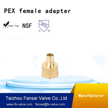 "Chinese manufacturer plumbing supply lead free copper cUPC forged 3/4""PEX* 1/2""female threaded brass coupling adapter fitting"