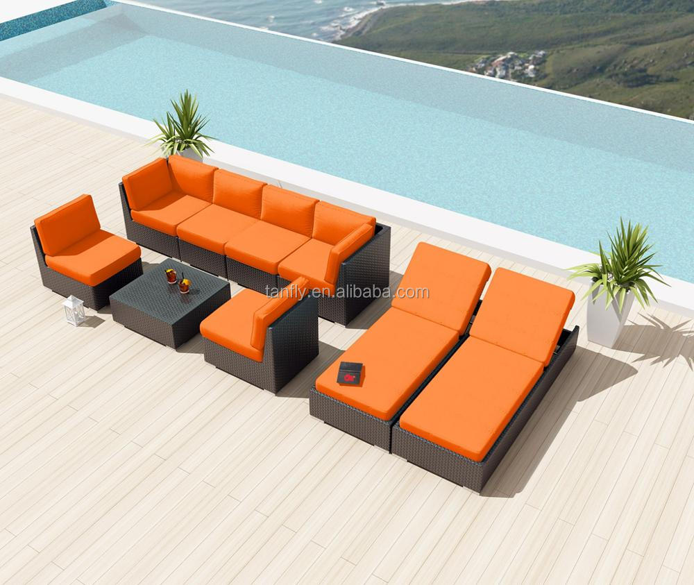 Wicker Poly Rattan Patio Furniture Outdoor Lounge Sofa Set