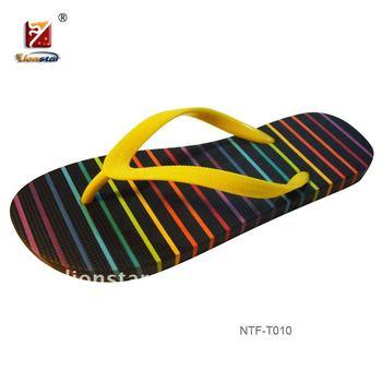 Men's New Design Rubber Pe Flip-flop Slipper Shoes