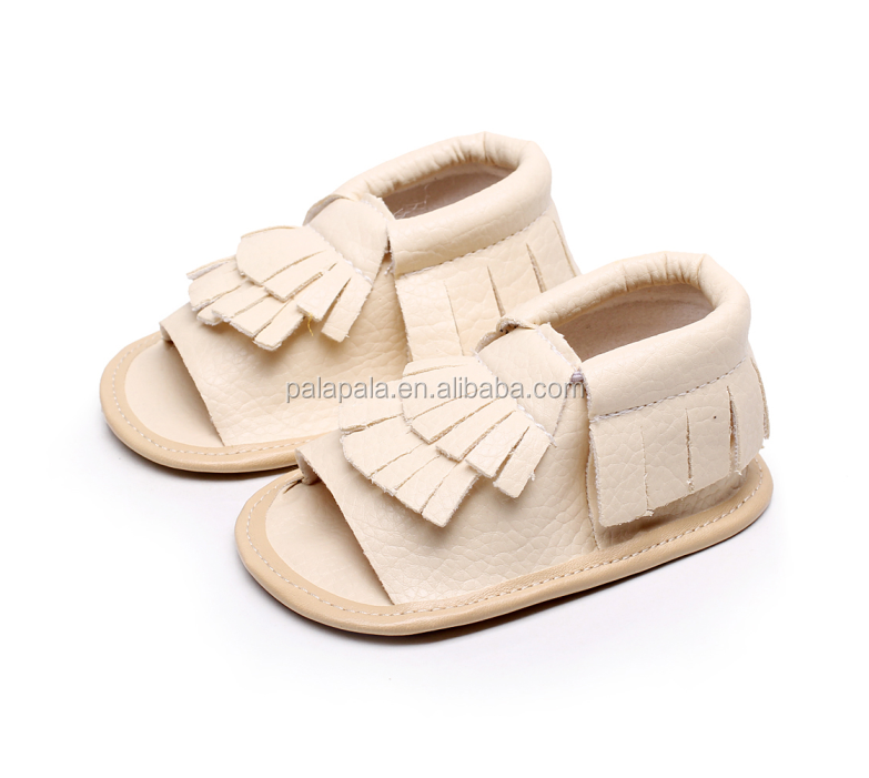 2016 New Design Hot Sale Newborn Baby Girl Sandals PU Leather Tassel Fringe Baby Moccasins First Walkers Soft Soled Infant Shoes