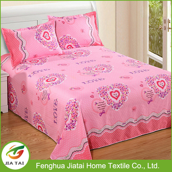 2017 Fashion Fancy Print Design Your Own 100% Polyester Bed Sheets