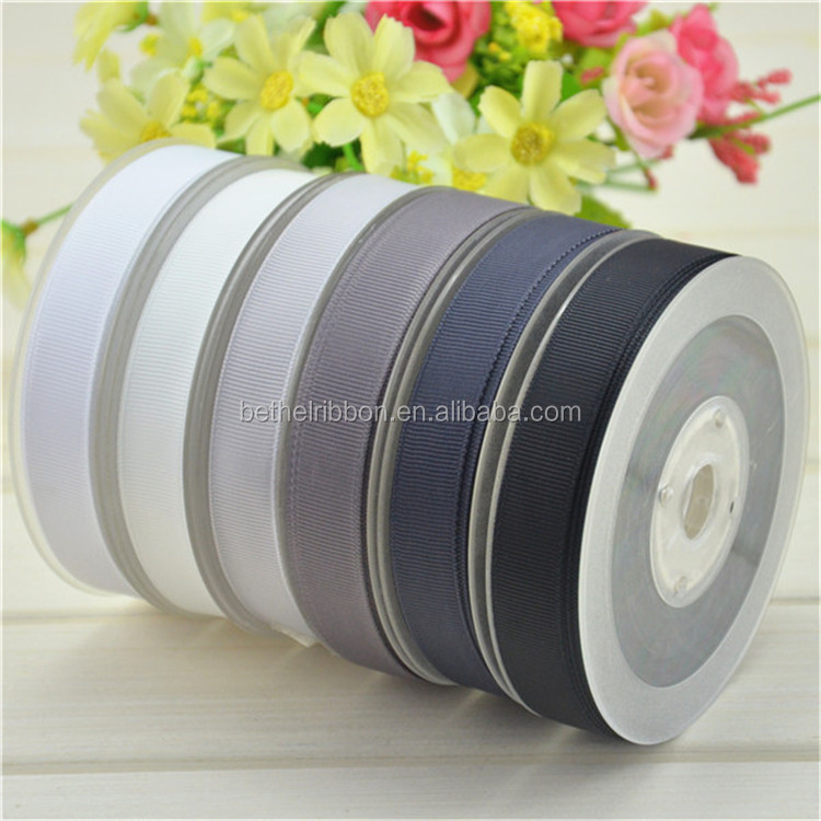 Durable manufacture old gold polyester grosgrain ribbon home