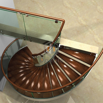 Spiral Glass Design Pvc Handrail Spiral Stairs Modern Floating Indoor Stairs