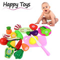 High Quality 13PCS Cutting Fruit Vegetable Pretend Play Children Kid Educational Toy Birthday Present Free Shipping