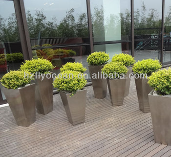 Outdoor Tall Square Stainless Steel Planter Box Fo 9010