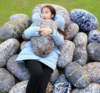 2016 hot sell stone pillow , 3d printing cushion, garden seat cushion