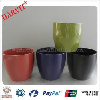 China Home Decor Flower Pot Whole Ceramic Glazed Coloured Plant Pots Small