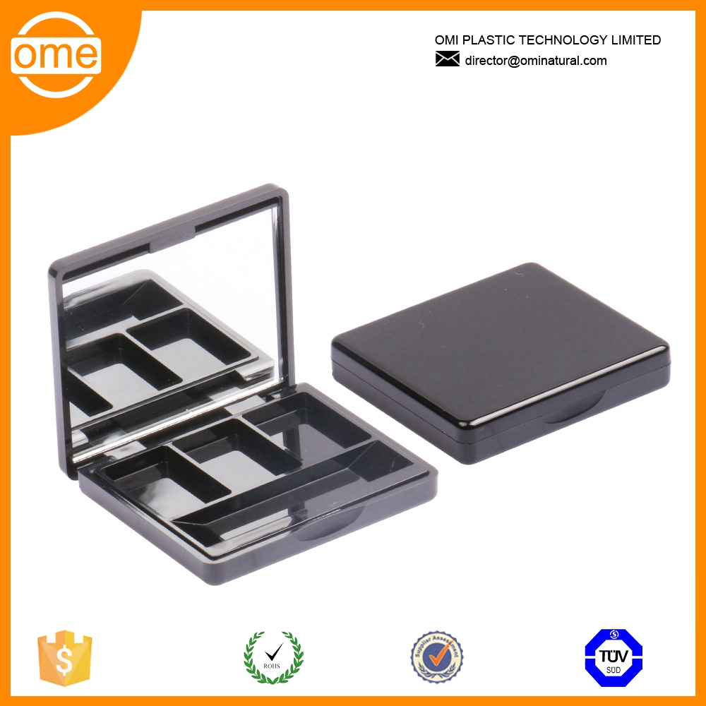 Hot selling wholesale cosmetic popular stlye with mirror square empty magnetic eyeshadow palette