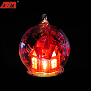 New battery powered led lighted glass ball best selling xmas christmas hot decorative items wholesale