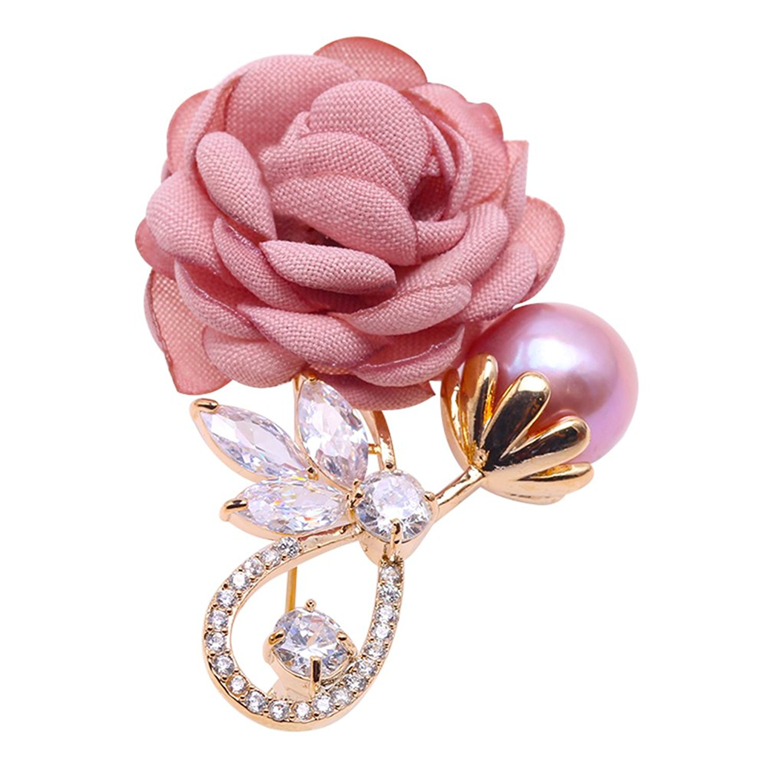 039f82aab20 Get Quotations · JYX Fine Rose Brooch Lavender Freshwater Pearl Brooch Pin  for Wedding