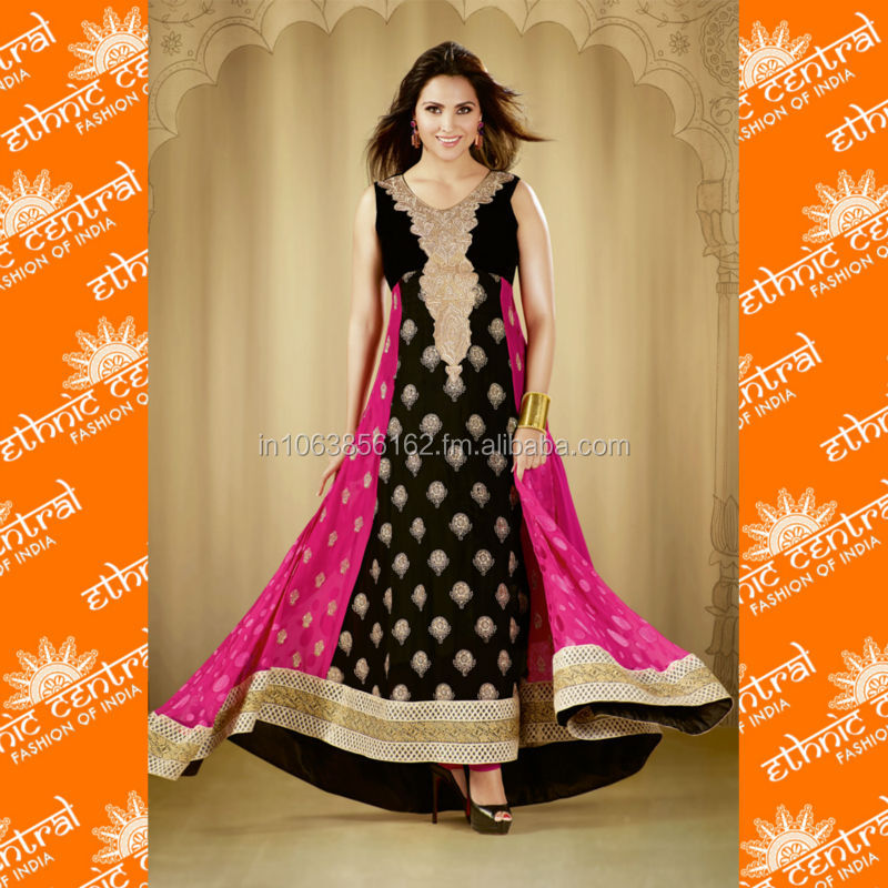 Latest Bollywood Anarkali Salwar Kameez Indian Pakistani Long Designer Suit Clothing, Shoes & Accessories Women's Clothing
