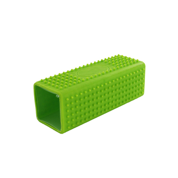 Custom logo cuboid reusable silicone pet brush for hair