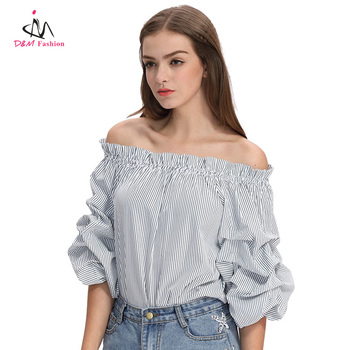 6aa40bd411904 Wholesale Half Sleeve Ruffled Ladies Fancy Tops Pleated Ballon Sleeve Woman  Blouses Custom Women Sexy Casual