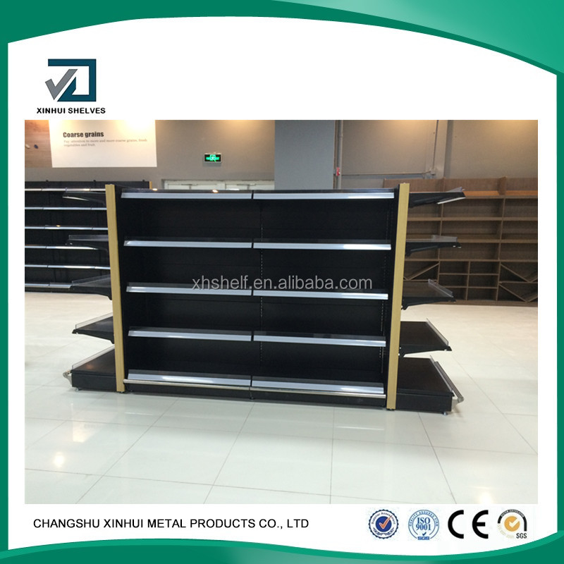 double side China 2017 supermarket display racks