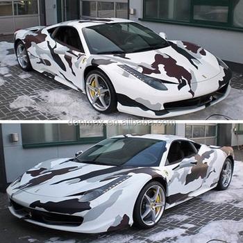 Very Cool Snow Camo Car Decoration Camouflage Car Vinyl Film - Buy Decoration Cars on