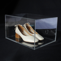 High Quality Plastic Storage Boxes Customized Clear Acrylic Container Store Shoe Boxes
