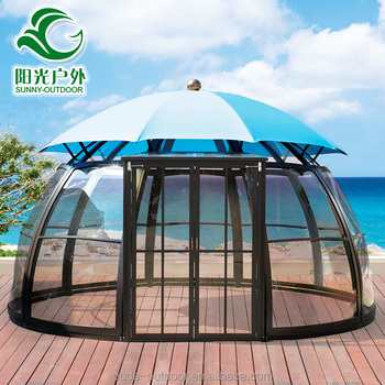 Top quality newest luxurious garden gazebo tent with canopy and windows